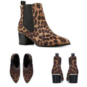 Nine West Taye Animal Print Ankle Boots 7.5